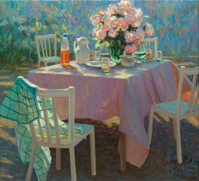 Juane Xue, 'Lang Geleden', olieverf op doek, 100 x 110 cm
