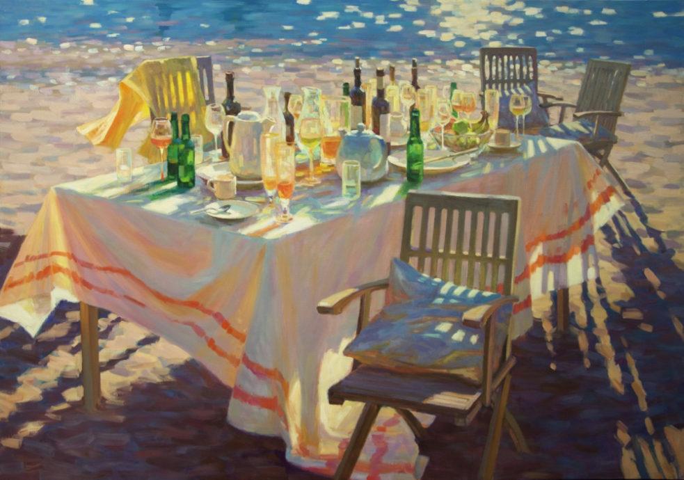 Juane Xue, 'een briljante zee', 140 x 200 cm