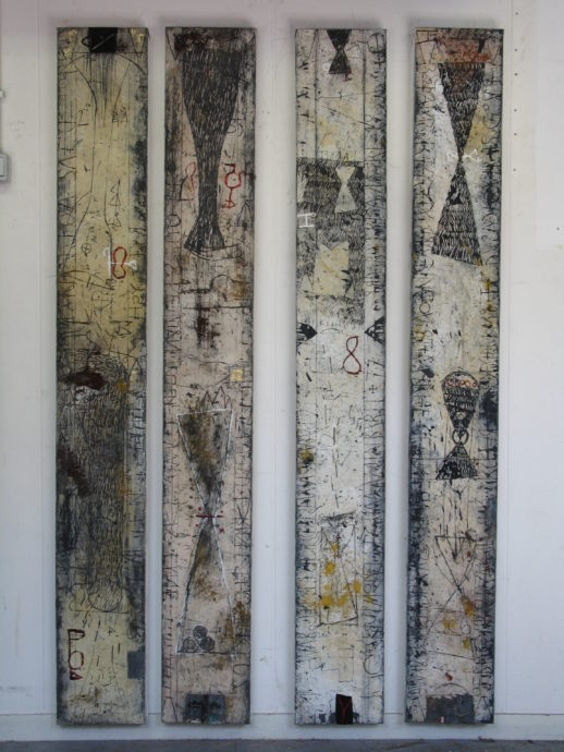 Walter Rast,'4 Works', Mixed media