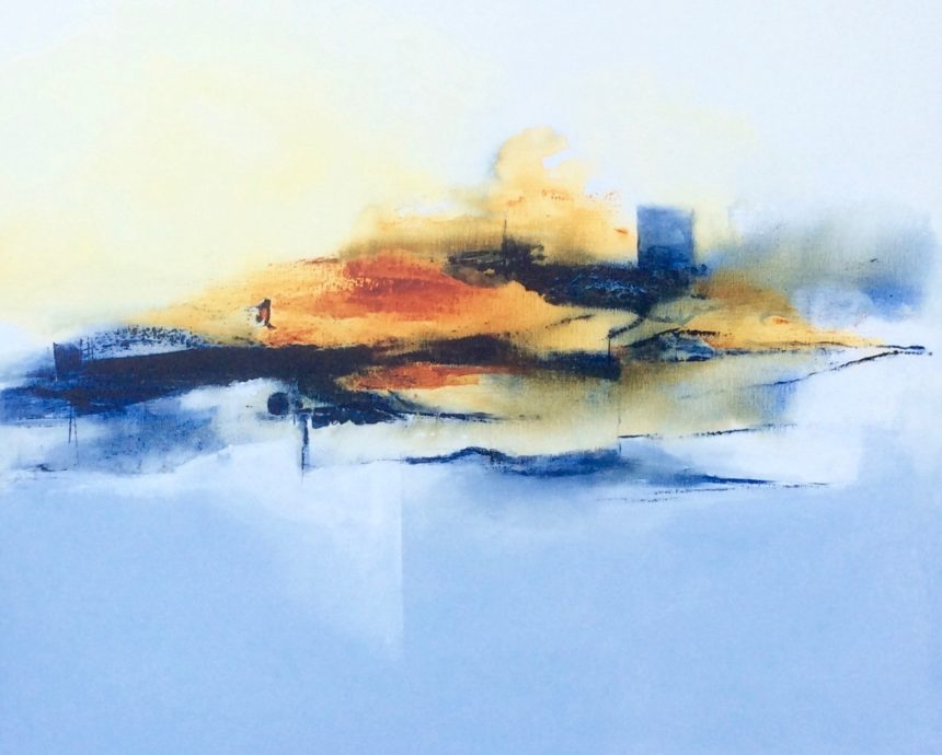 Yon Nicolas, zonder titel, 2017, acryl op linnen, 80 x 100 cm