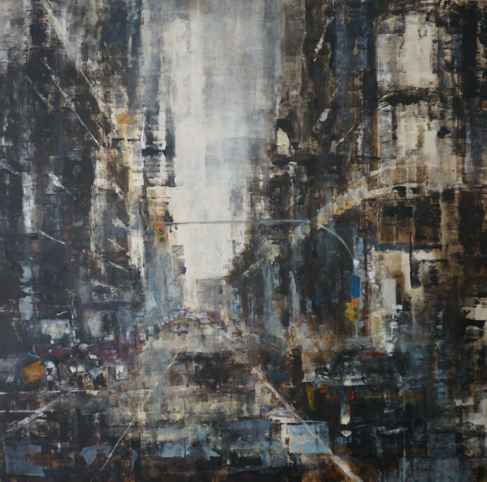 Michel Tuinman, 'Barcelona', oil on canvas, 100 x 100 cm