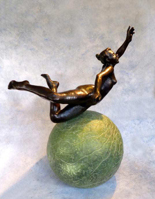 Hieke Meppelink, 'Anima Mundi', brons, opl. 8, h. 87 cm, 2018