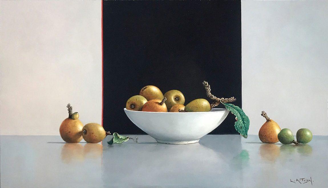 Lion Arie Feijen, 'nisperoscontrast', olieverf, 26 x 41 cm