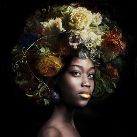 Yvonne Michiels, 'Fading Flowers Yellow', fotografie, 120 x 120 cm