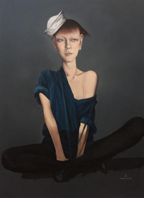 An Kun, 'Jing Jing', olieverf op doek, 110 x 150 cm