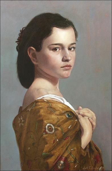 Scott Bartner, Olieverf op paneel, 50 x 33 cm