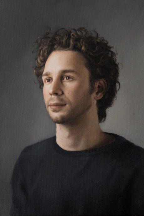 Judith Steenkamer, Portret Gaël, Olieverf op linnen, 49 x 35 cm