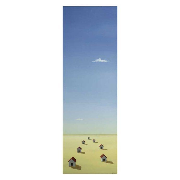 Bert Brus, 'Home', oil on panel, 51 x 17cm