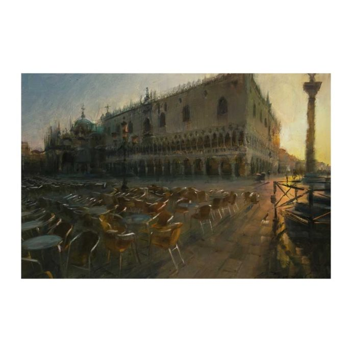 Simon Pasini, A Garden in Venice, oil on canvas, 40 x 60 cm