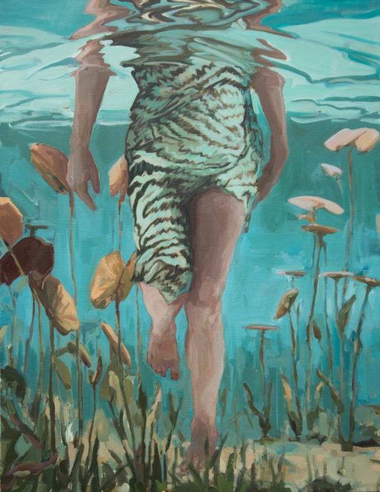 Jantien de Boer, 'Wanderer', 2018, oil on canvas, 130 x 110 cm