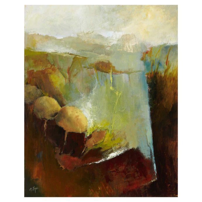 Margaret Egan, 'Loop Head, Co. Clare', olieverf op doek
