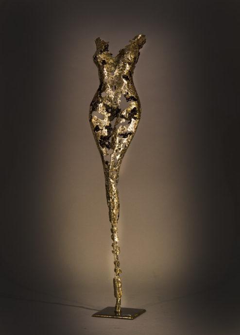 Nimrod Messeg, 'Aubrey', forged iron, 130 x 25 x 25 cm