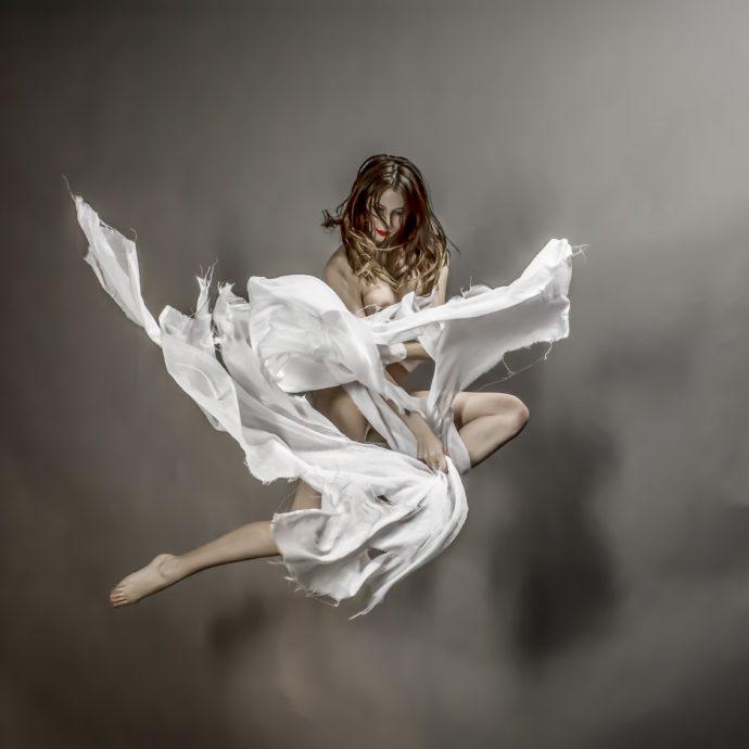 Jeff Robb, Free Fall Series, 3D-fotografie, 75 x 75 cm