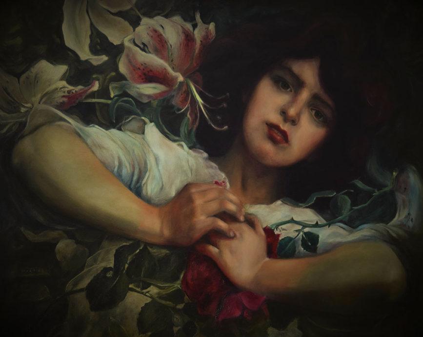 Liseth Visser, 'Colorful dreaming', olie op paneel, 82 x 112 cm
