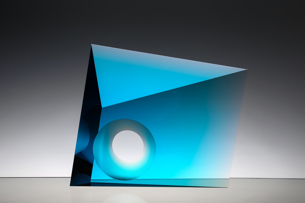 Tomas Brzon (Tsjechië), zonder titel, optisch glas, 25,5 x 29 x 6 cm