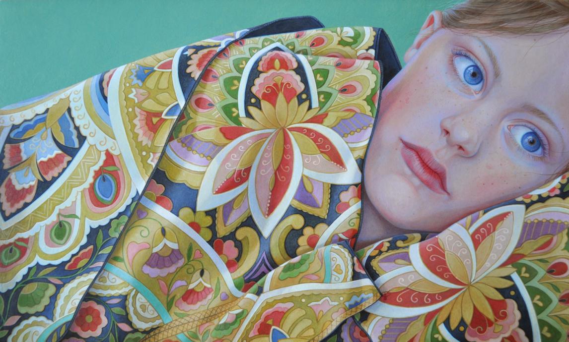 Jantina Peperkamp, 'Elena', acryl op paneel, 18 x 30 cm