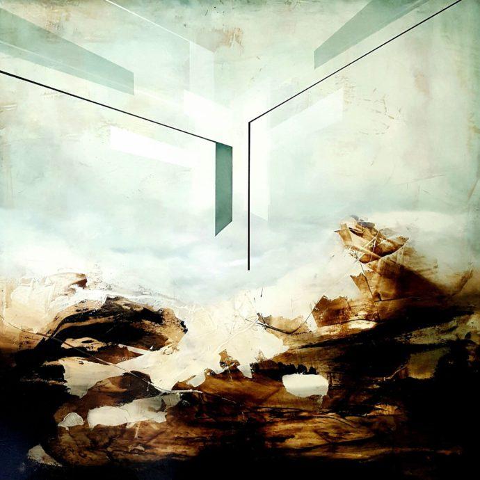 Joachim van der Vlugt, 'The Event III',  \olieverf op hout, 95 x 95 cm