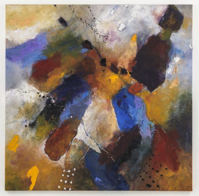 Alexander Vogels, 'Bokkenrijder', 2017, olieverf op doek, 130 x 130 cm