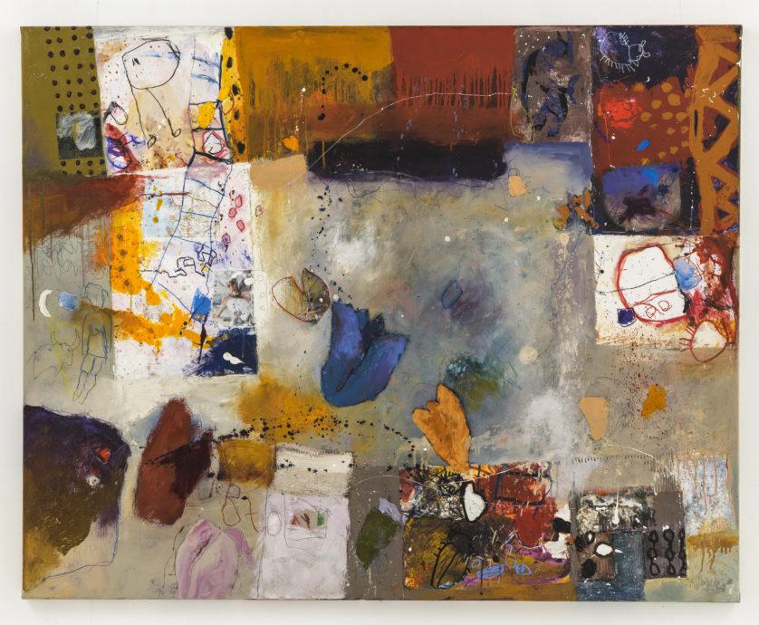Alexander Vogels, 'Bonneville salt flats I', olieverf op doek, 120 x 150 cm