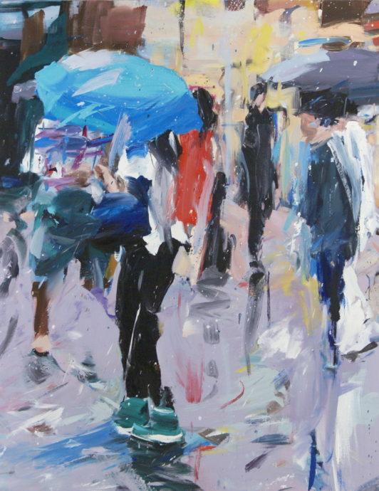 Alireza Varzandeh Its raining Sunshine original oil on canvas 140 x 110 cm y 2018