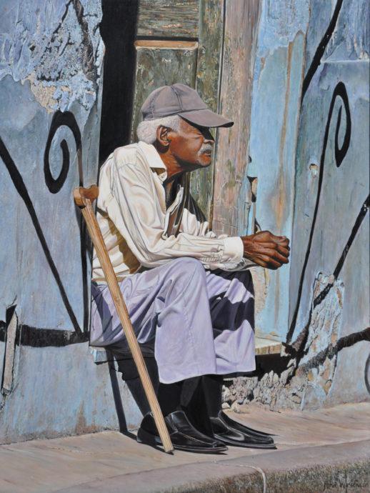 John Wassenaar, 'Cuba Havana', olieverf op paneel, 40 x 30 cm