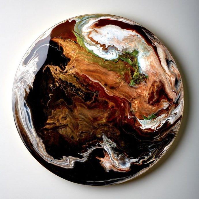 Corine van Voorbergen, 'Afrique', epoxy, acrylic paint, pigments, media