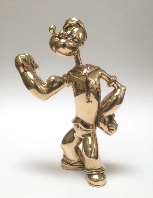 Heiner Meyer Little Popeye Bronze poliert 20 x14 x10cm y 2018