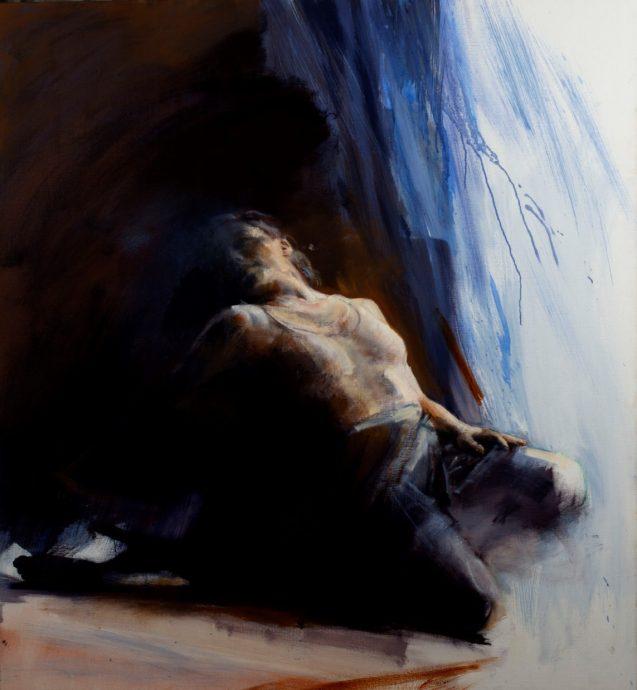 Lizette Luijten, Dance at Work, Original oil painting on canvas 130 x 115 cm  y 2018