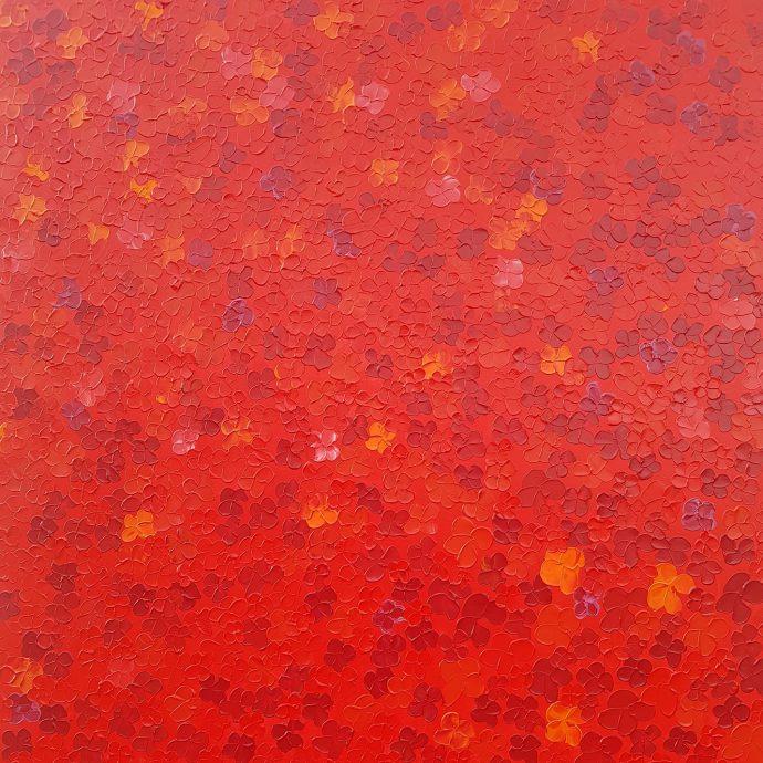 Julius. Let's find the land of the midnight sun. 2020. Acrylic op doek. 150x150cm. €2377.-
