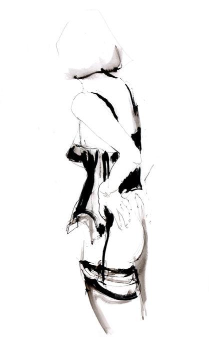 Jeroen Dercksen, zonder titel, tekening, 120 x 70 cm