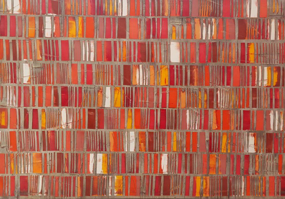 Petra Rös Nickel, 'Happy red', 120x170, olieverf op linnen