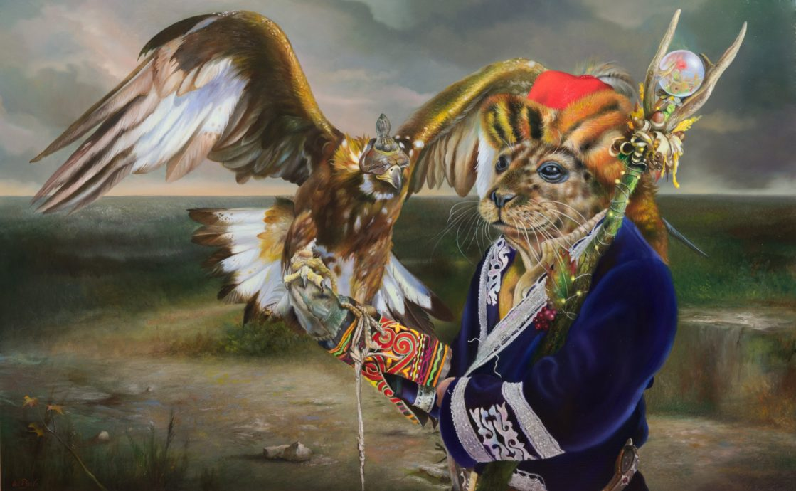 Wim Bals, 'The Eagle and the Seal', oil on panel