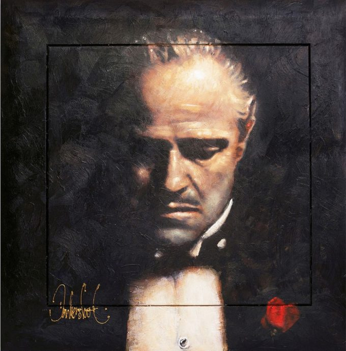 Peter Donkersloot, 'Don Corleone', 2018. oil on canvas, 110 x 110 cm