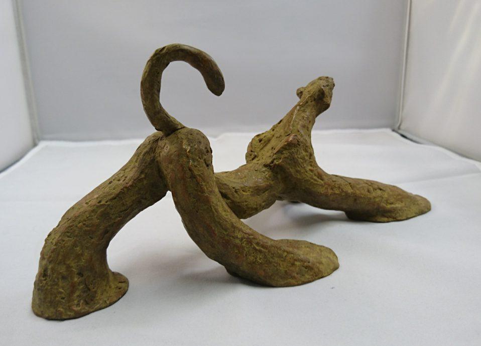 Anne Maryken. Panthera, 2020. Bronze, series of 8  h11 x b11 x d23 cm.