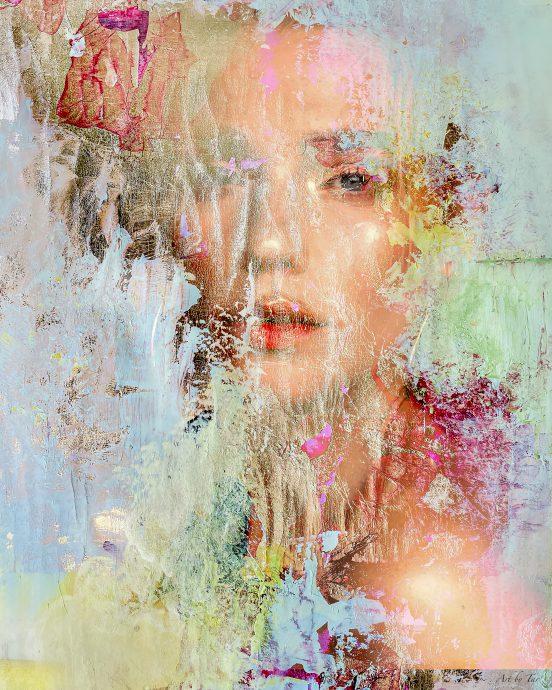 Through a colored veil