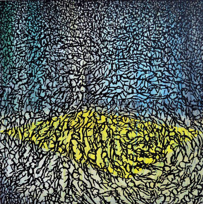 Galerie Martin Copier. Olieverf  op doek. 400 mm x 400 mm. €790,-