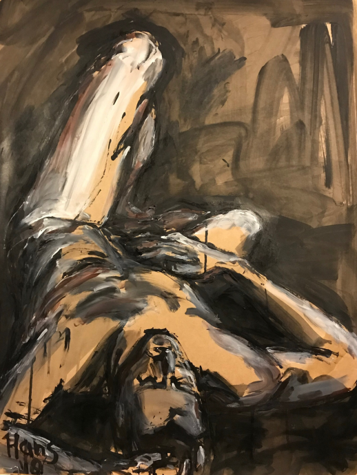 Hans van Weerd. Craig. 2018. Ink on kraft paper. 72 x 55 cm. €1.295,00