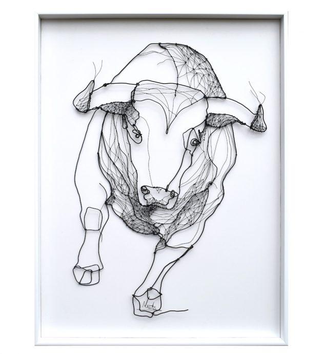 Toro (Bull). 2020. Draad kunstwerk. 110x120 cm.