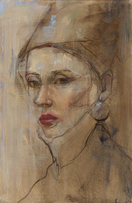 Mieke Robben. Femme 6. Mixed media. 40x60 cm.