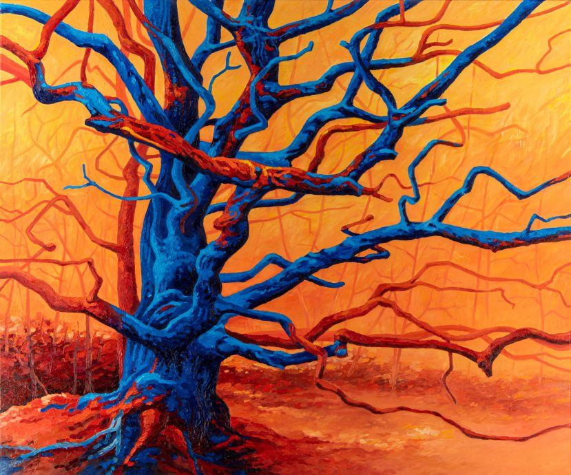 Rob Donders. Not Just a Tree. 2021. Olieverf op canvas. 120x100 cm.