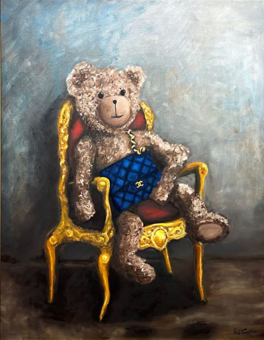 Lady Bobby Loves Chanel. Olieverf. Ingelijst. 80x100 cm. €5.900,-