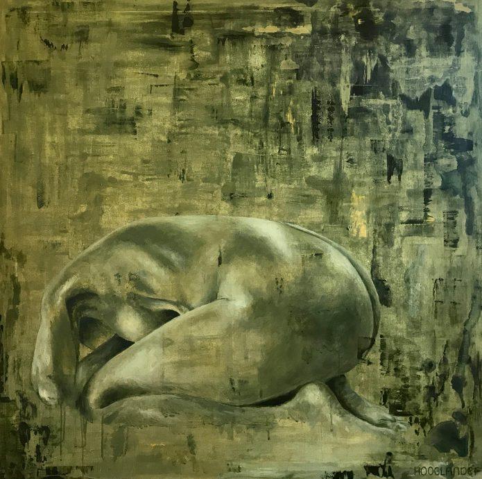 Just me. Acryl op canvas. 100x100 cm.
